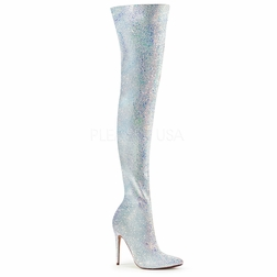 Pleaser Courtly-3015 Glittery Thigh High Boot