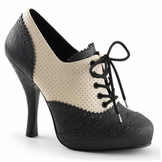 Pleaser Cutiepie-14 Hidden Platform Lace-Up Spectator Oxford