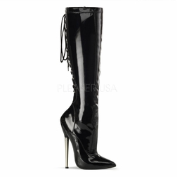 Pleaser Dagger-2064 Stretch Lace Up Boot