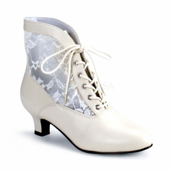 Pleaser Dame-05 Lace Victorian Ankle Boot