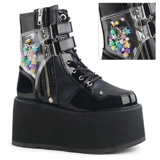 Pleaser Damned-115 Ankle Boot W/Outside Pocket