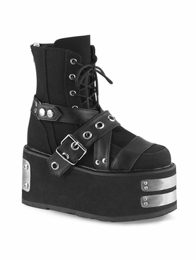 Demonia Damned-116 Lace-Up Ankle Boot