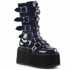 Pleaser Damned-225 Studded Buckle Strap Boots