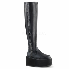 Pleaser Damned-302 Stretch Thigh High Boot W/Studs