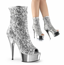 Pleaser Delight-1008SQ Ruched Shaft Ankle Boot