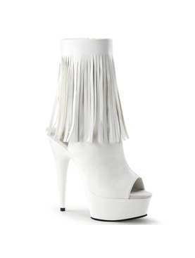 Pleaser Delight-1019 Platform Fringed Ankle Boot
