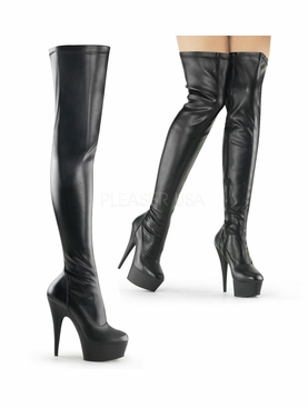 Pleaser Delight-3000 Exotic Dancer Thigh High Boot Size 6