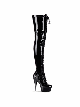 Pleaser Delight-3023 Stretch Thigh High Boots