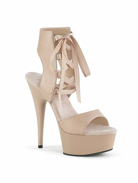 Pleaser Delight-600-14 Front Lace-Up Ankle High Sandal
