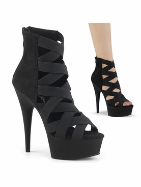 Pleaser Delight-600-24 Lattice Design Bootie Sandal