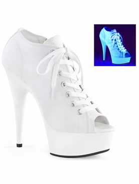 Pleaser Delight-600Sk-01 Lace Up Front Canvas Sneaker