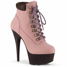 Pleaser Delight-600TL-02 Lace-up Front Bootie