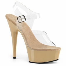 Pleaser Delight-608 Ankle Strap Sandal