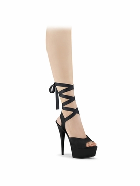 Pleaser Delight-634 Criss Cross Ankle Wrap Sandal