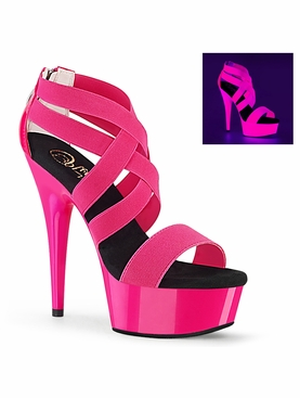 Pleaser Delight-669UV Platform Criss Cross Sandal