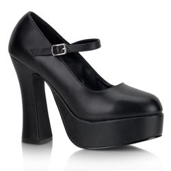 Pleaser Dolly-50 Vegan Friendly Mary Jane Pump