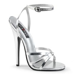 Pleaser Domina-108 Strappy Ankle Wrap Sandal