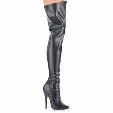 Pleaser Domina-3000 Plain Stretch Thigh Boot