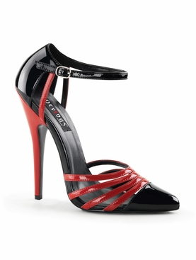 Pleaser Domina-412 D'Orsay Strappy Ankle Sandal