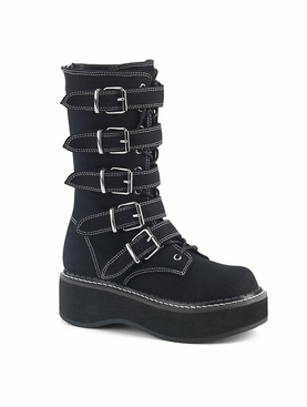 Pleaser Emily-341 Lace-Up Front Mid-Calf Boot