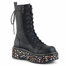 Pleaser Emily-350 Platform Mid-Calf Lace-Up Boot