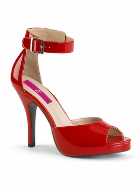 Pleaser Eve-02 Ankle Strap Sandal With Buckle