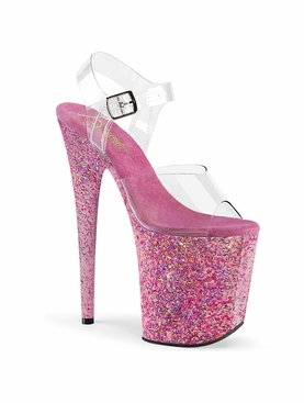 Pleaser Exotic Dancer Heels Flamingo-808CF Platform Sandal