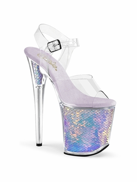 Pleaser Exotic Dancer Shoes Flamingo-808MC Platform Sandal