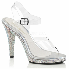 Pleaser Flair-408DM Platform Ankle Strap Sandal