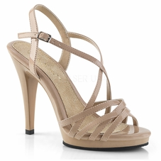Pleaser Flair-413 Criss-Cross Ankle Strap Sandal