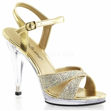 Pleaser Flair-419G Ankle Strap Sandal