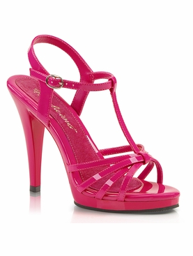 Pleaser Flair-420 Stiletto T-Strap Platform Sandal