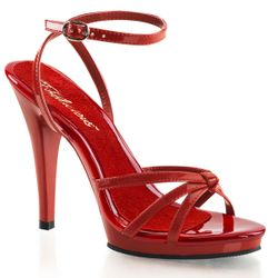 Pleaser Flair-436 Strappy Ankle Wrap Sandal