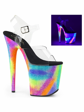 Pleaser Flamingo-808GXY Galaxy Effect Ankle Strap Sandal
