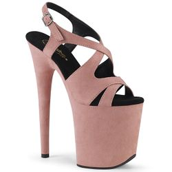 Pleaser Flamingo-831FS Faux Suede Sling Back Sandal