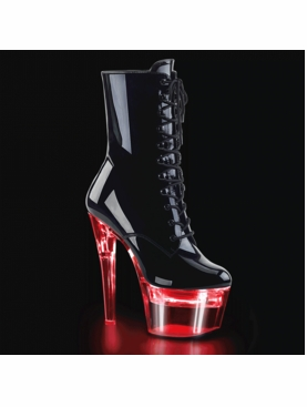 Pleaser Flashdance-1020-7 Chargeable Lace Up Ankle Boot