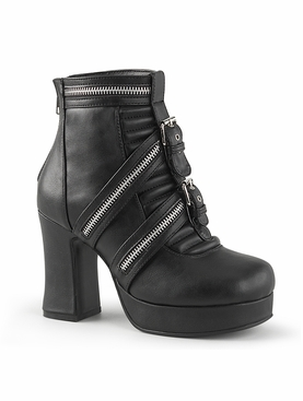 Pleaser Gothika-50 Two Buckle Strap Ankle Boot