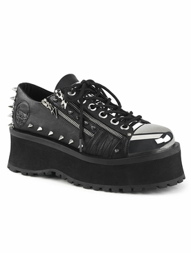 Pleaser Gravedigger-04 Men's Plated Toe Cap Lace-Up Oxford