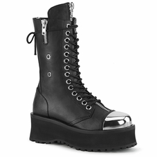 Pleaser Gravedigger-14 Men's Lace-Up Mid Calf Boot