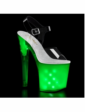 Pleaser Illuminator-808 LED Light Up Ankle Strap Sandal