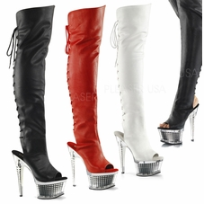 Pleaser Illusion-3019 Thigh High Boots
