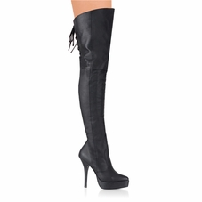 Pleaser Indulge-3011 Thigh High Boots W/Side Zipper
