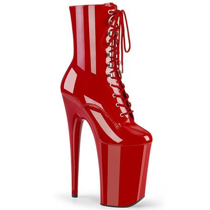 Pleaser Infinity-1020 Lace Up Ankle Boot