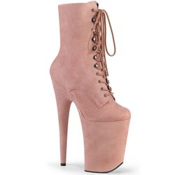 Pleaser Infinity-1020FS Platform Lace Up Ankle Boot