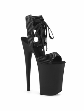 Pleaser Infinity-900-14 Lace-Up Front Ankle High Sandal
