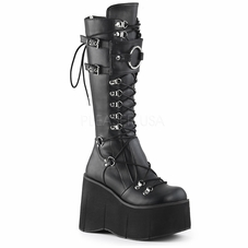 Pleaser Kera-200 D-Ring Lace-Up Knee High Boots