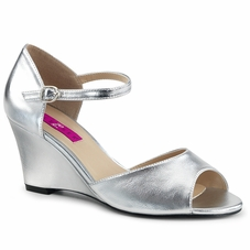 Pleaser Kimberly-05 Ankle Strap Wedge Sandal