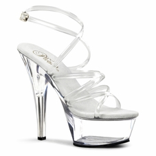 Pleaser Kiss-206 Spike Stiletto Heel Sandal