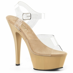 Pleaser Kiss-208 Ankle Strap Peep Toe Sandal