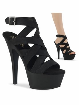 Pleaser Kiss-241 Wrap Around Ankle Strap Sandal